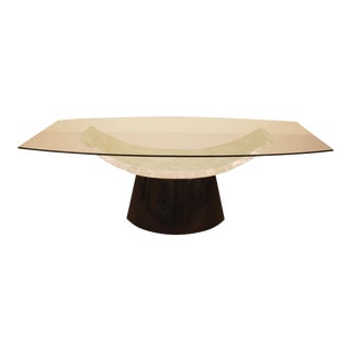 """Black Tessellated Stone & White Capiz Shell """"Lounge"""" Dining Table"""