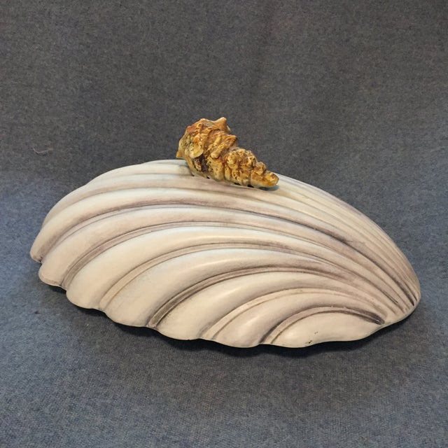 Italian Majolica Clamshell Oyster Soup Tureen For Sale - Image 9 of 13