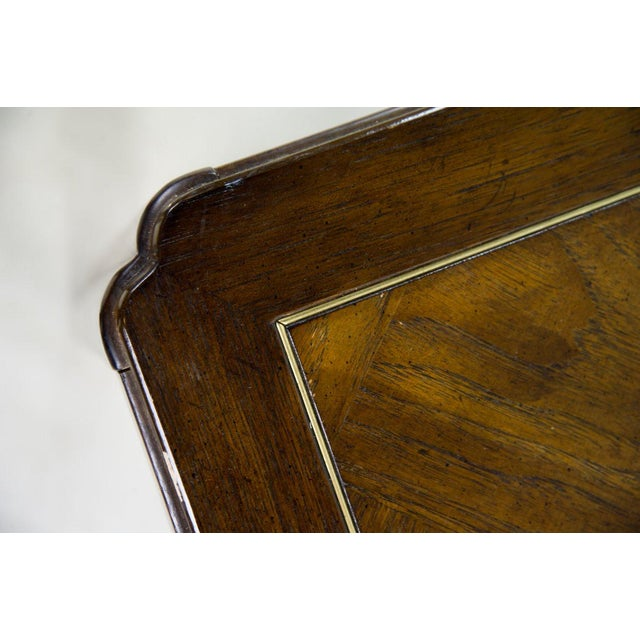 Drexel Campaign Style Burl Wood Side Tables - A Pair For Sale - Image 9 of 13