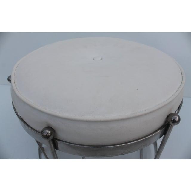 George Koch Mid-Century Vinyl & Chrome Drum Stool For Sale - Image 7 of 11