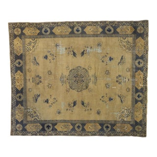 Antique Turkish Sparta Rug With Chinoiserie Chic Style - 12'02 X 14'02 For Sale