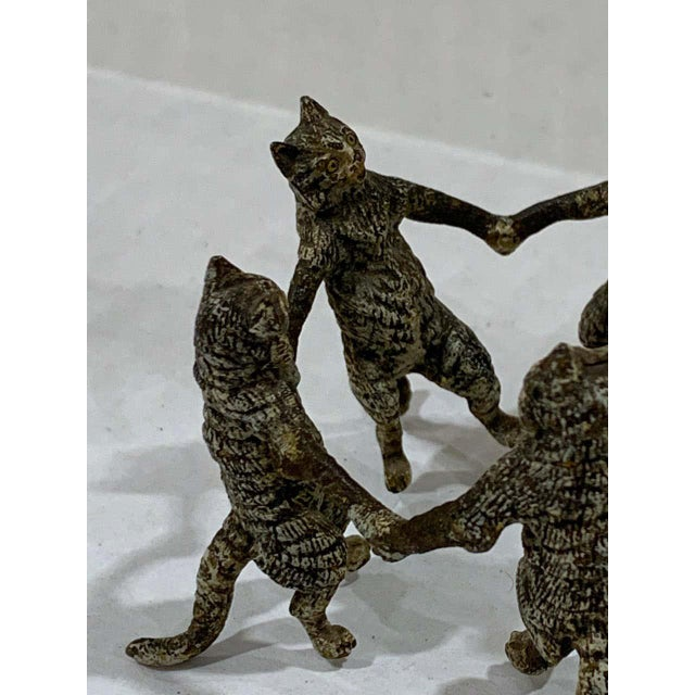 Vienna Cold Painted Bronze Dancing Cats, Attributed to Bergman For Sale - Image 9 of 11