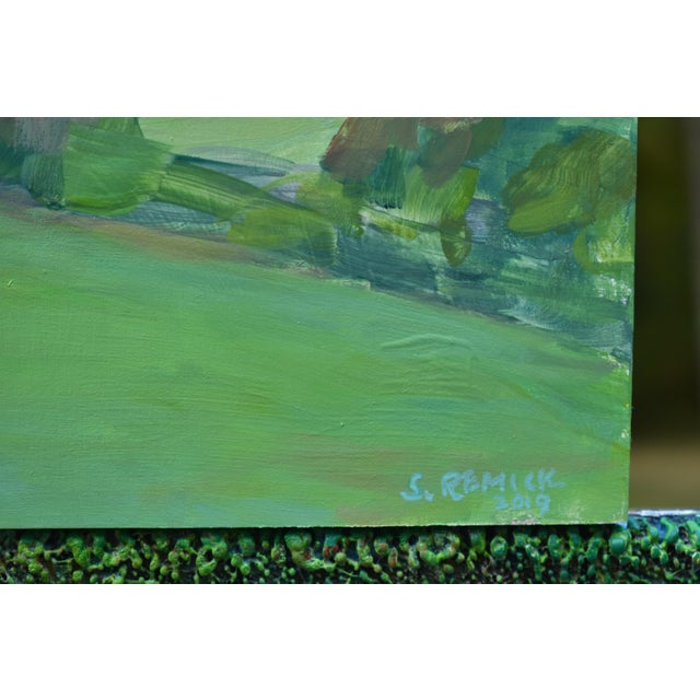 """Contemporary """"Surf N Turf"""" Plein Air Painting by Stephen Remick For Sale In Providence - Image 6 of 8"""