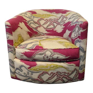 Contemporary Print Swivel Chair