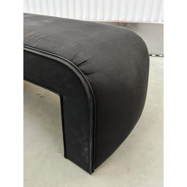 1990s 1990s Modern Upholstered Waterfall Bench For Sale - Image 5 of 9