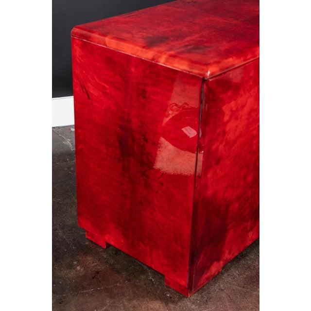 Animal Skin Rare Aldo Tura Goatskin Cabinet/Sideboard For Sale - Image 7 of 8