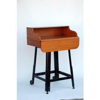Adjustable Oak Writing Table / Desk Preview