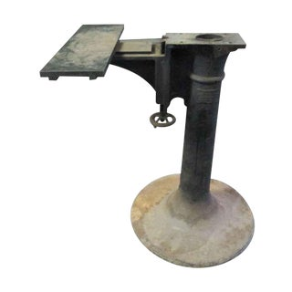 Original Industrial Iron Base For Sale