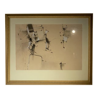 Walter William Barker -Mid 20th Century Abstract Mixed-Media Drawing For Sale