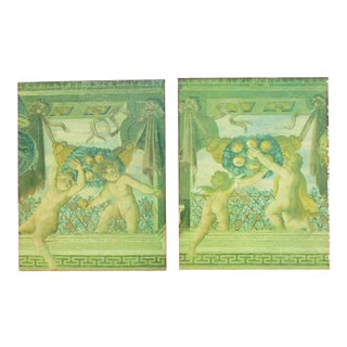 Vintage Neoclassical Frieze Paintings Giclee - A Pair