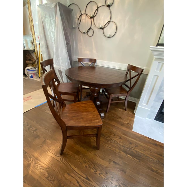Traditional Pottery Barn Dining Set - 5 Pieces For Sale In Chicago - Image 6 of 7