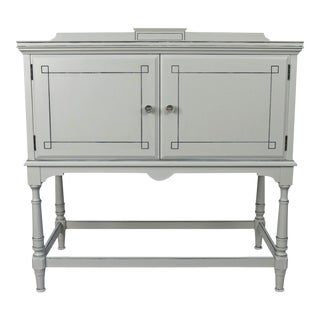 Victorian Style Gray Walnut Console Table For Sale