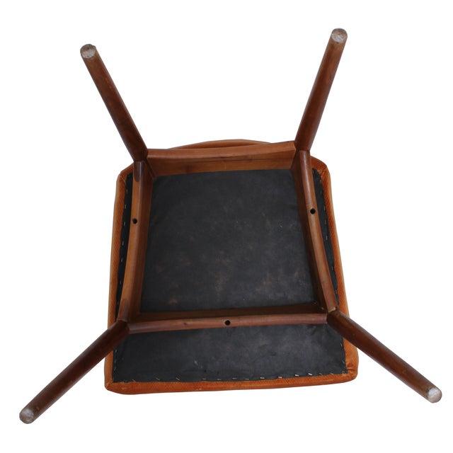 Mid-Century Orange Velvet Accent Chair For Sale - Image 5 of 5