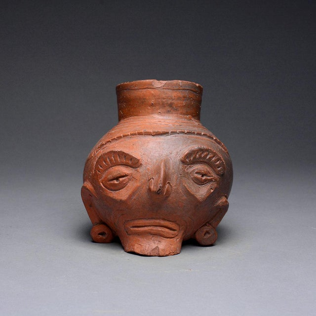 15th Century & Earlier Toltec Plumbate Head Effigy Vessel For Sale - Image 5 of 5
