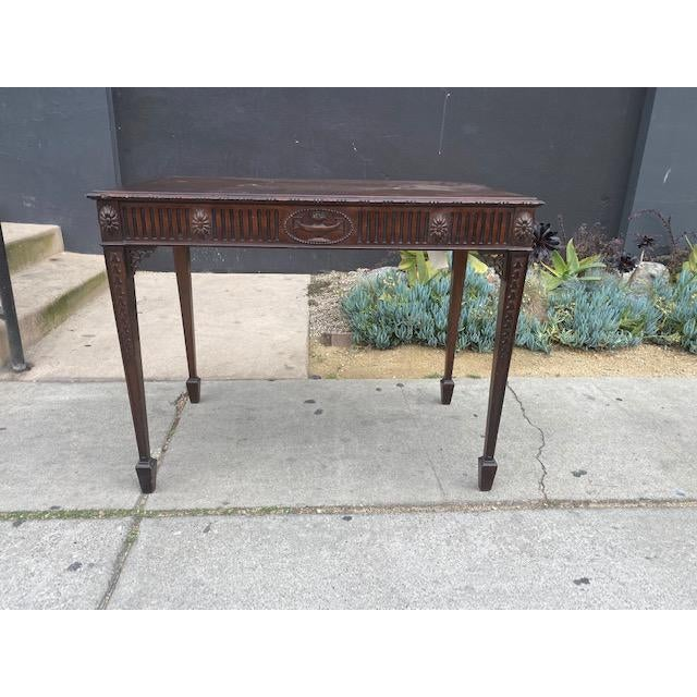 Fine 19th C. English / Irish Mahogony Tea Table For Sale - Image 12 of 12