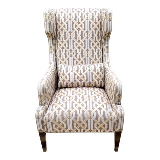 Contemporary Vanguard Furniture Thom Filicia Wingback Chair For Sale