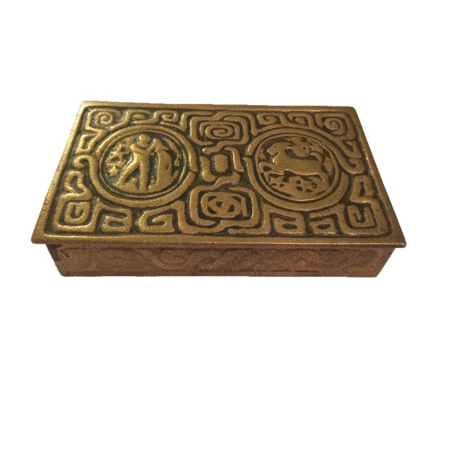 Tiffany Studios Zodiac Stamp Box - Image 1 of 6