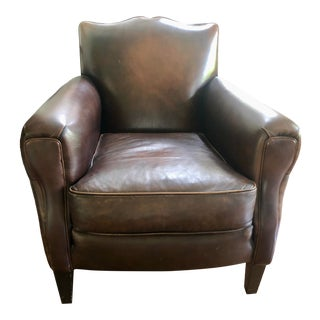 Cisco Brown Leather Chair For Sale