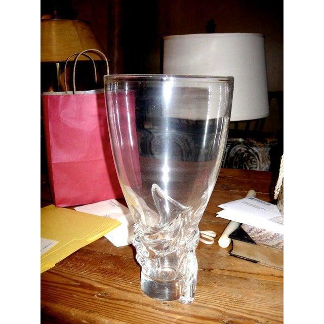 Spectacular stuben vase of large scale.