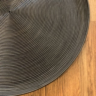 Hand Coiled Natural Black Rattan Tray Preview