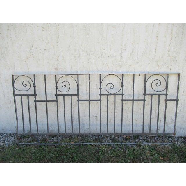 Antique Victorian Iron Gate Window Garden Fence Architectural Salvage Door #015 For Sale In Philadelphia - Image 6 of 6