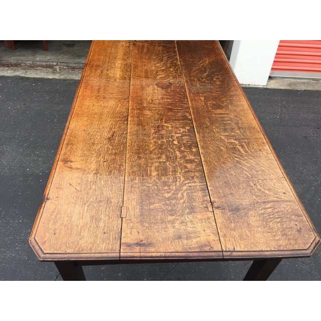 Antique French Farm Table With Drawers For Sale - Image 4 of 13