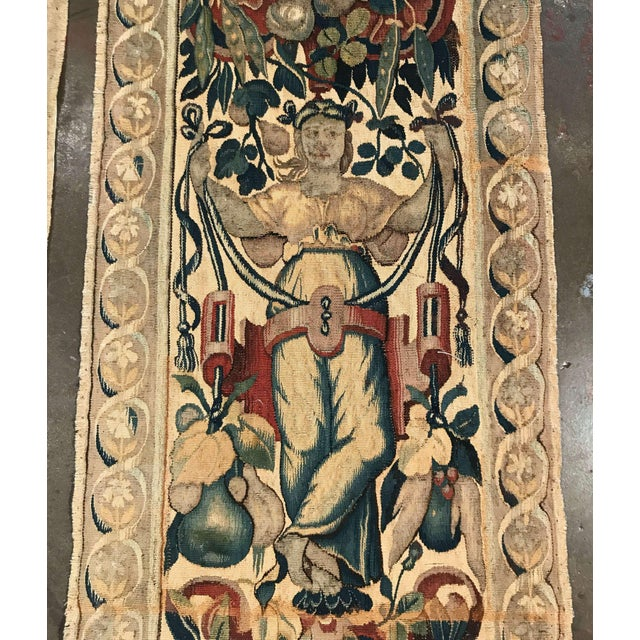 Canvas Pair of 18th Century Flemish Portiere Tapestries With Mythological Figures For Sale - Image 7 of 8