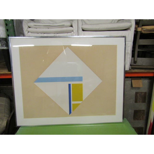 1960s Vintage Original Abstract Signed Serigraph Print For Sale In West Palm - Image 6 of 7