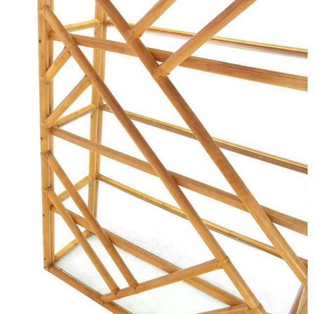 White Large Rattan Shelf For Sale - Image 8 of 8
