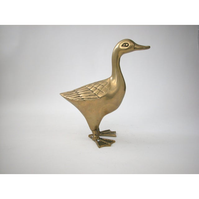 Large Brass Goose - Image 2 of 8