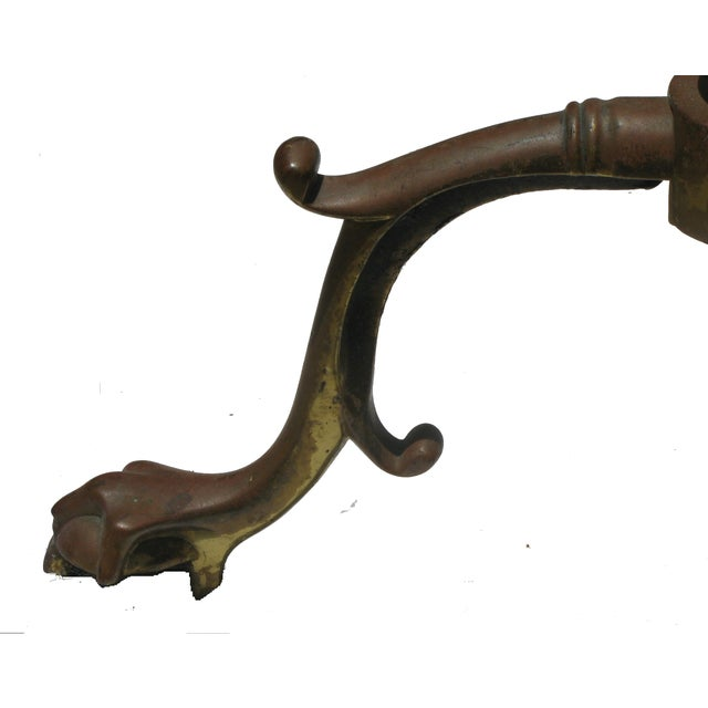 French French Andirons with Ball & Claw Feet - A Pair For Sale - Image 3 of 4