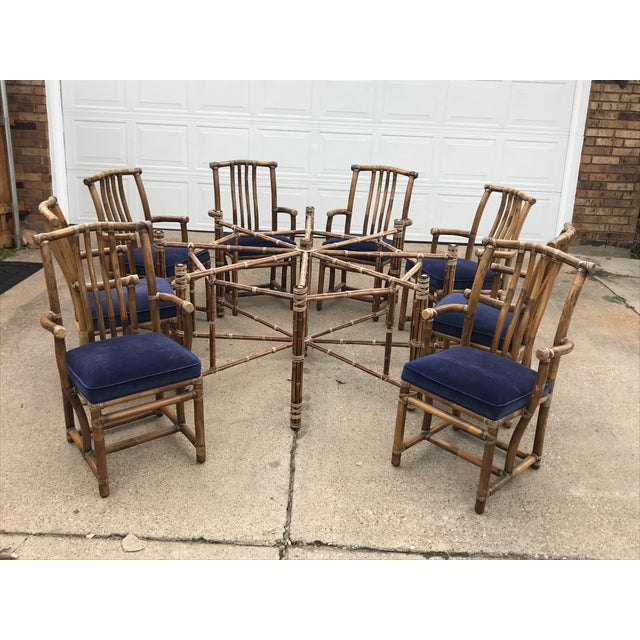 Monumental McGuire Dining Set - 9 Pieces For Sale - Image 9 of 13