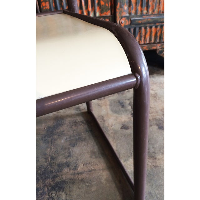 French Vintage Industrial Dining Chairs - Set of 6 - Image 8 of 10