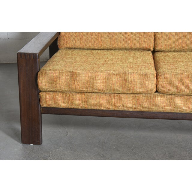 Wenge Modern 1970's Three-Seater Sofa - Image 8 of 11
