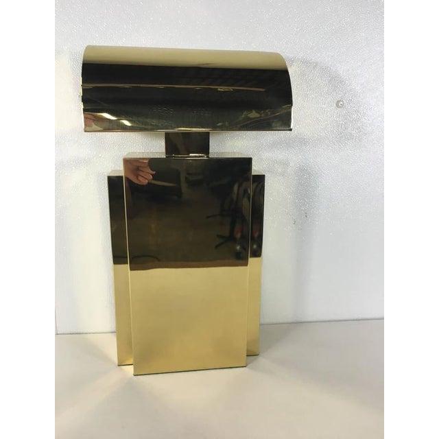 Mid-Century Modern Karl Springer Style Brass Tabel Lamp For Sale - Image 3 of 7