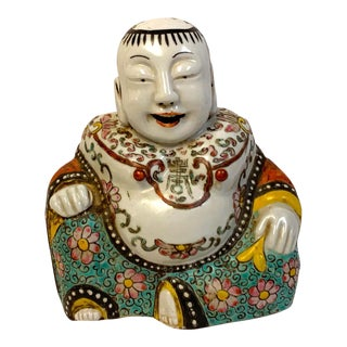 19th Century Chinese Export Seated Buddha For Sale