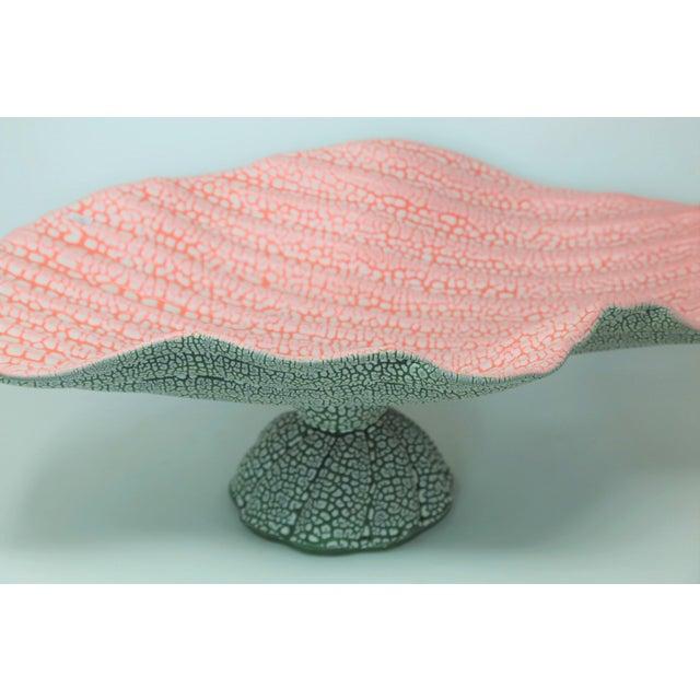 "Unique, Mamphis style ""watermelon"" decorative bowl signed Paradox Pottery."