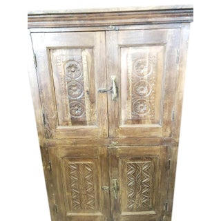 1920s Antique Armoire Artistic Carved Cabinet Preview