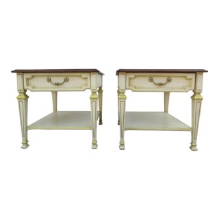 20th Century Italian Drexel Side Tables - a Pair For Sale