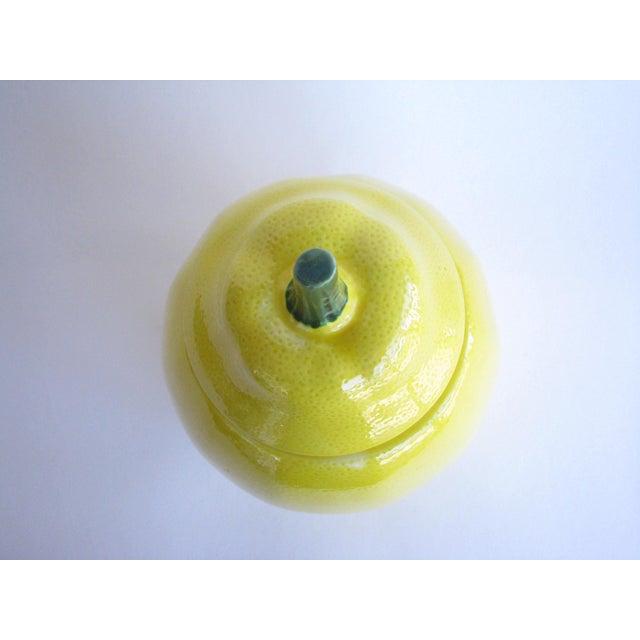 Vintage Lemon Shaped Ceramic Cookie Jar or Canister For Sale - Image 4 of 12