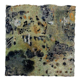 "Niederhausen Mixed Media on Paper ""Petroglyphic"", Contemporary Abstract For Sale"