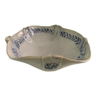 Studio Pottery Blue and White Bowl With Banding