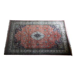 Antique Silk Hand Knotted Tabriz Rug - 6′8″ × 10′
