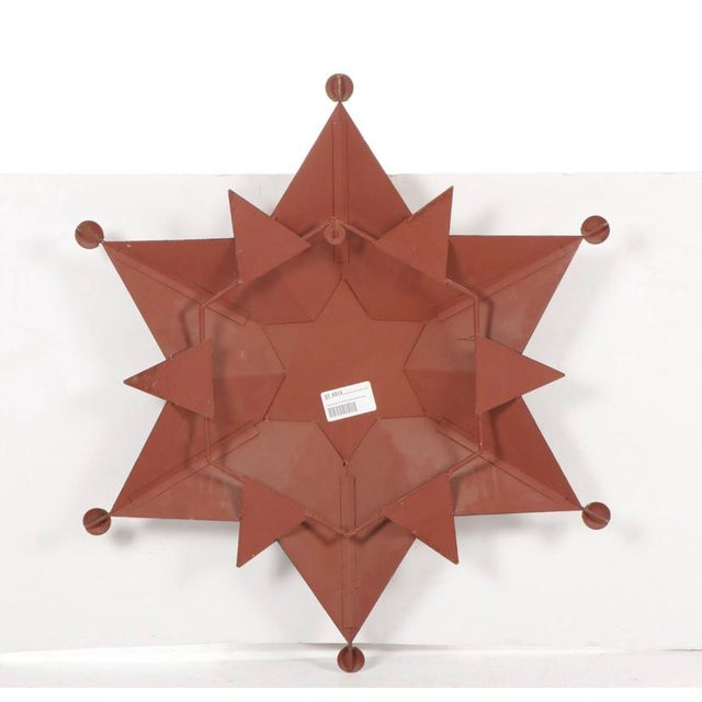 Contemporary Gold-Tone Metal Star Shaped Accent Mirror For Sale In Chicago - Image 6 of 9