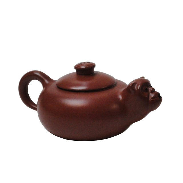 Chinese Purple Sand Clay Monkey Face Teapot - Image 2 of 4