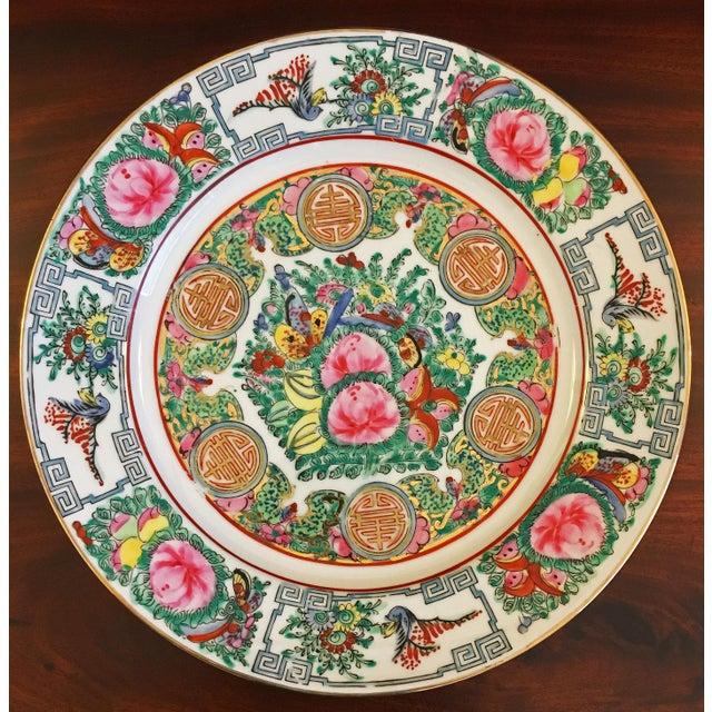 Vintage Famille Rose Medallion Decorative Plates - Set of 3 For Sale - Image 4 of 13