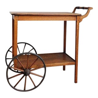 1940s Rustic Tea/Bar Cart For Sale