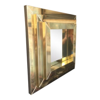 Brass Jere Style Porthole Wall Mirror Square