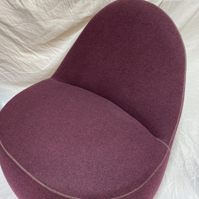 2000 - 2009 Bernhardt Contemporary Plum Club Chairs - Pair For Sale - Image 5 of 13