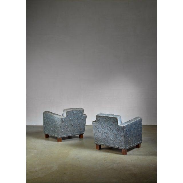 Mid-Century Modern Bjorn Tragardh Pair of Easy Chairs for Svenskt Tenn, 1930s For Sale - Image 3 of 5
